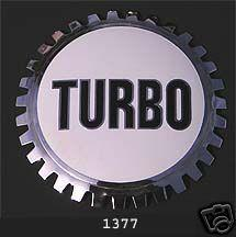 TURBO AUTOMOBILE GRILLE BADGE EMBLEM