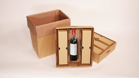 Korrvu wine packaging solution for 6 bottles