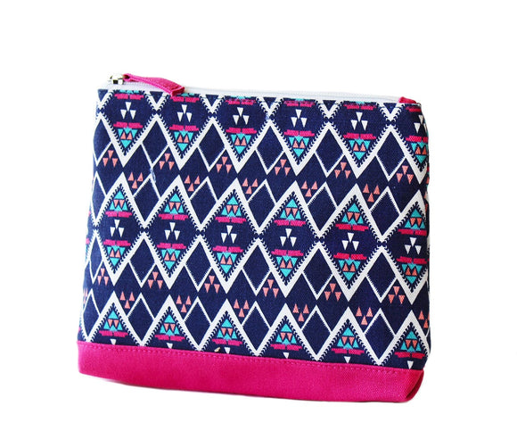 Pink and navy Meg beach