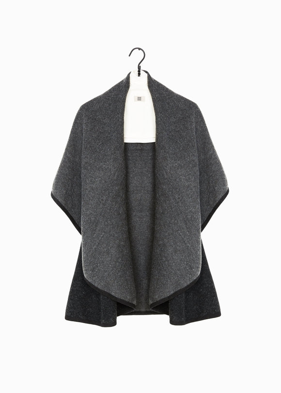 Blak Two Tone Shawl Vest