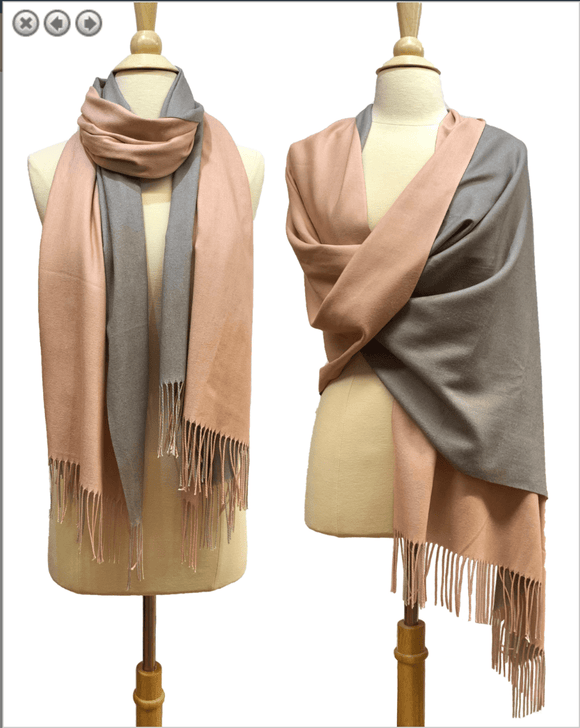 Two Tone Fringe Scarf