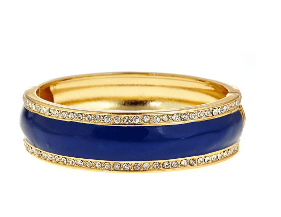 Navy and gold globe bangle