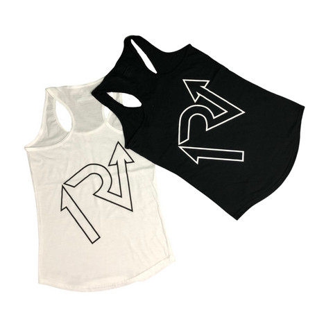 White Out/Black Out Racerback Tank