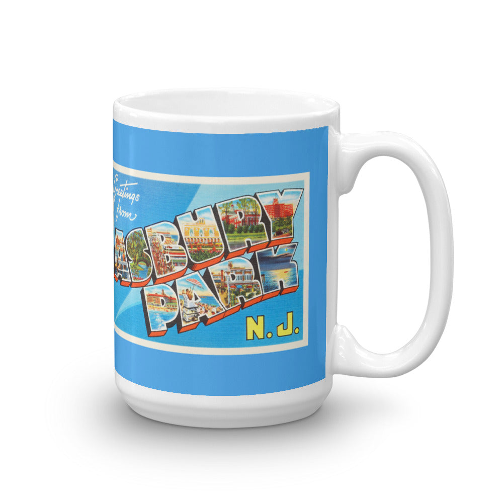 Mug - Asbury Park New Jersey NJ Big Large Letter Postcard Travel Souvenir - American Yesteryear