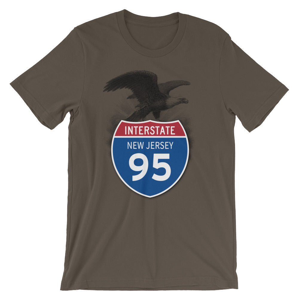 New Jersey NJ I-95 Highway Interstate Shield TShirt Tee - American Yesteryear