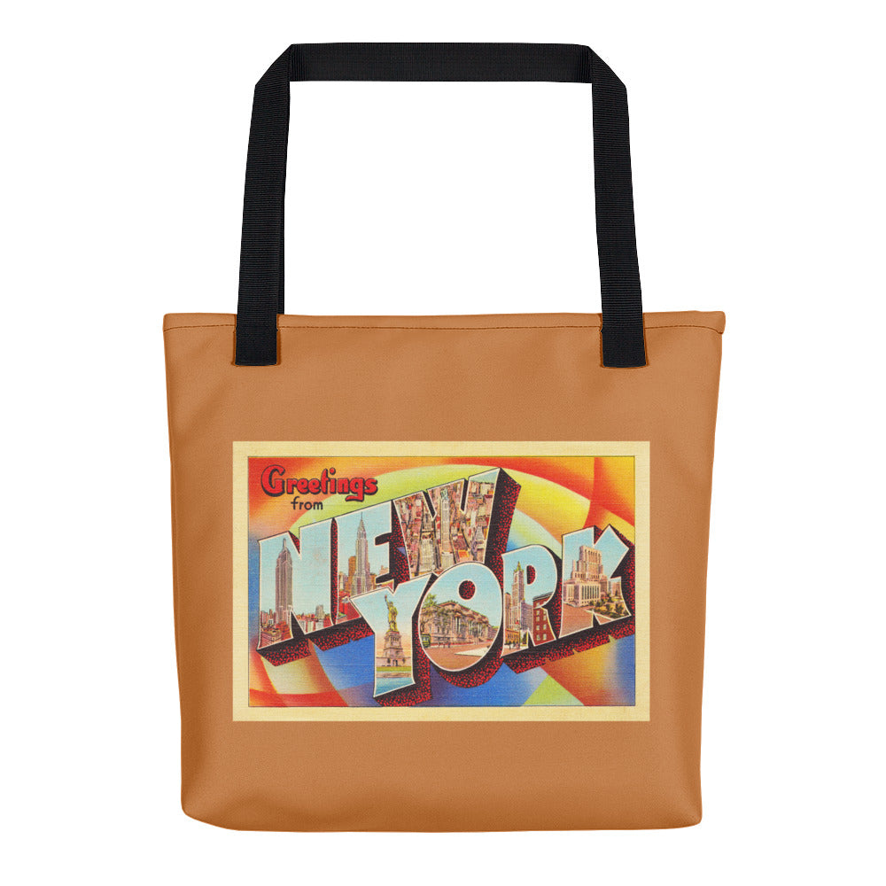 Tote Bag - New York City NY Big Large Letter Postcard Travel Souvenir - American Yesteryear