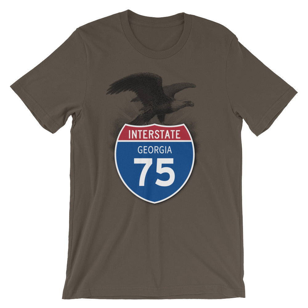 Georgia GA I-75 Highway Interstate Shield TShirt Tee - American Yesteryear