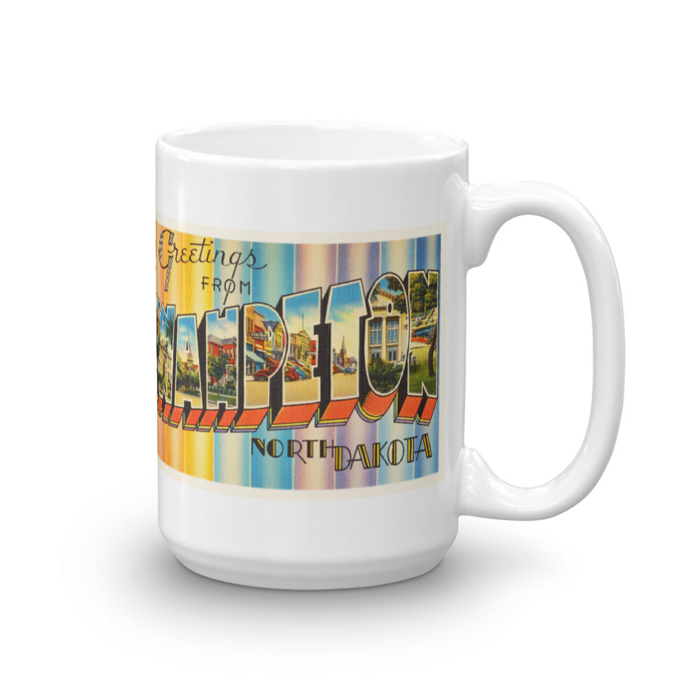 Mug – Wahpeton ND Greetings From North Dakota Big Large Letter Postcard Retro Travel Gift Souvenir Coffee or Tea Cup - American Yesteryear