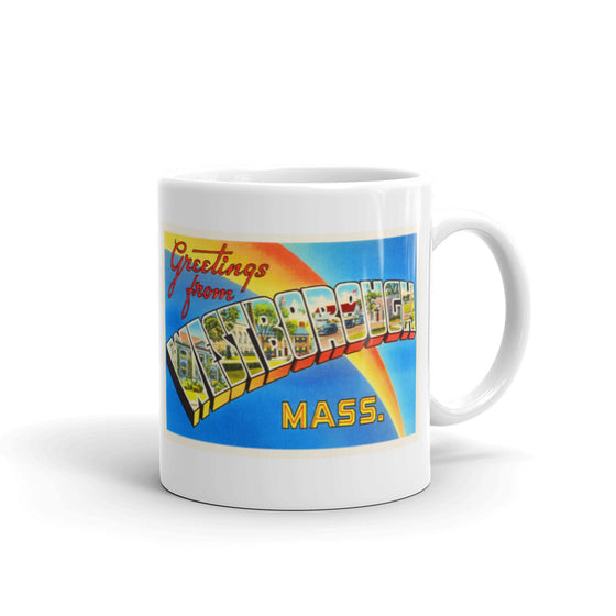 Mug – Westborough MA Greetings From Massachusetts Big Large Letter Postcard Retro Travel Gift Souvenir Coffee or Tea Cup - American Yesteryear