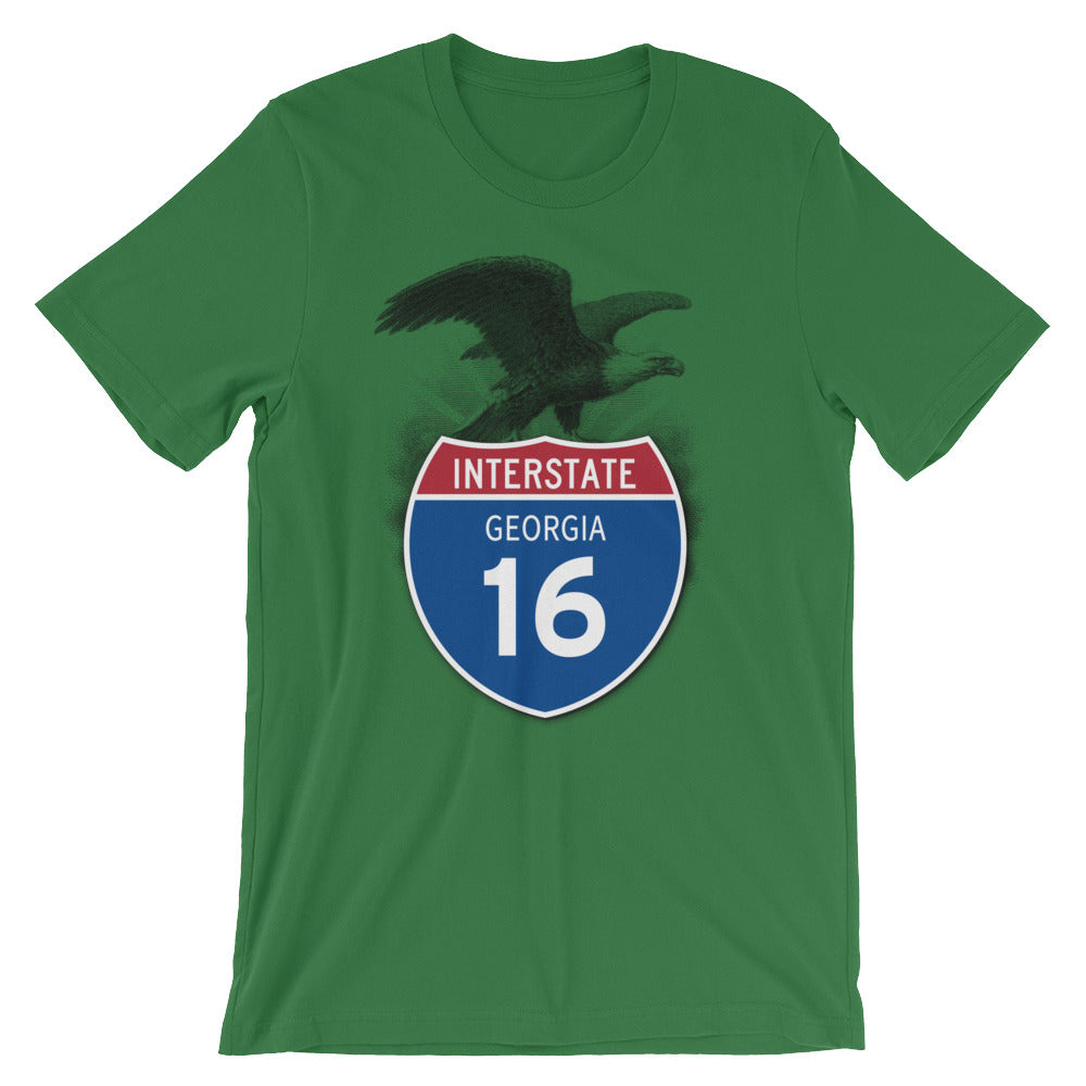 Georgia GA I-16 Highway Interstate Shield TShirt Tee - American Yesteryear