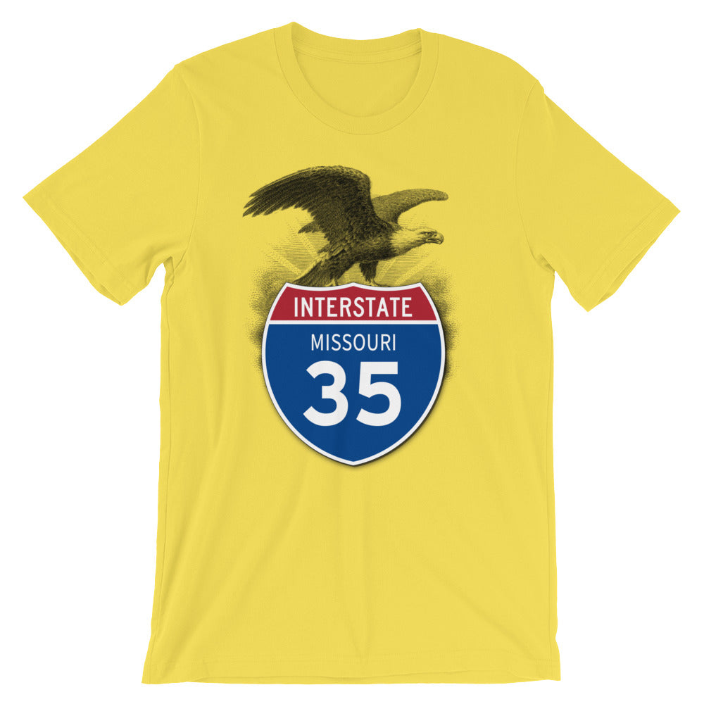 Missouri MO I-35 Highway Interstate Shield Tshirt Tee - American Yesteryear