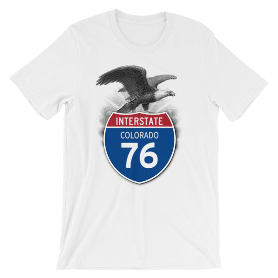 Colorado CO I-76 Highway Interstate Shield TShirt Tee - American Yesteryear