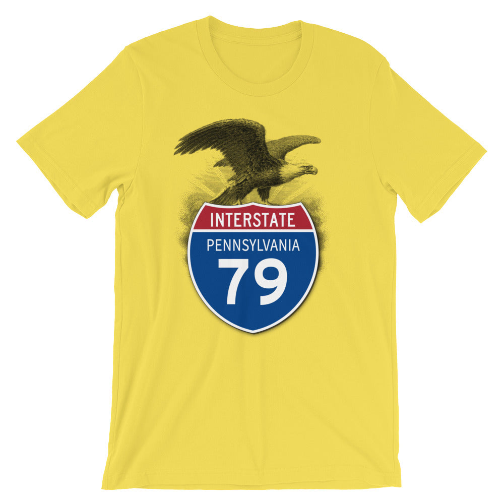 Pennsylvania PA I-79 Highway Interstate Shield TShirt Tee - American Yesteryear