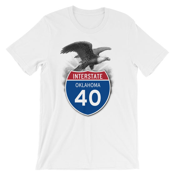 Oklahoma OK I-40 Highway Interstate Shield TShirt Tee - American Yesteryear