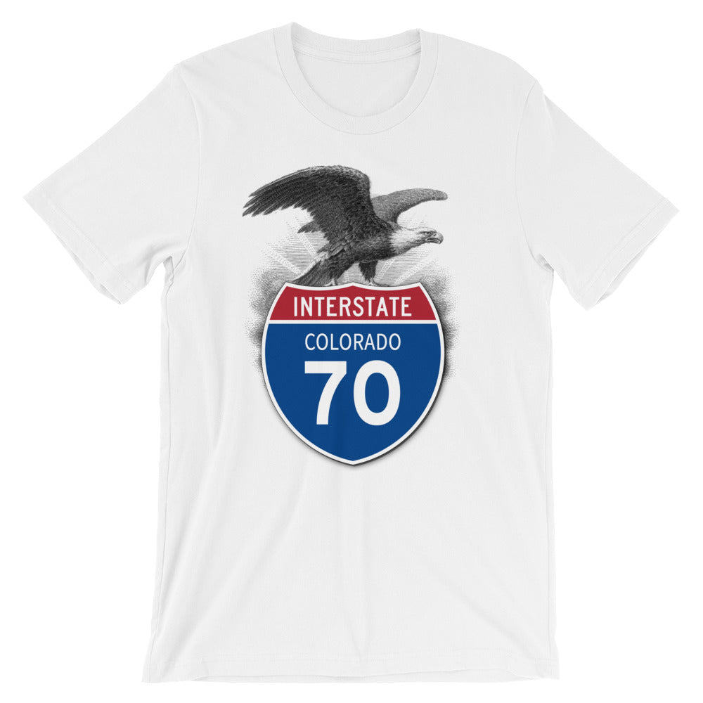 Colorado CO I-70 Highway Interstate Shield TShirt Tee - American Yesteryear