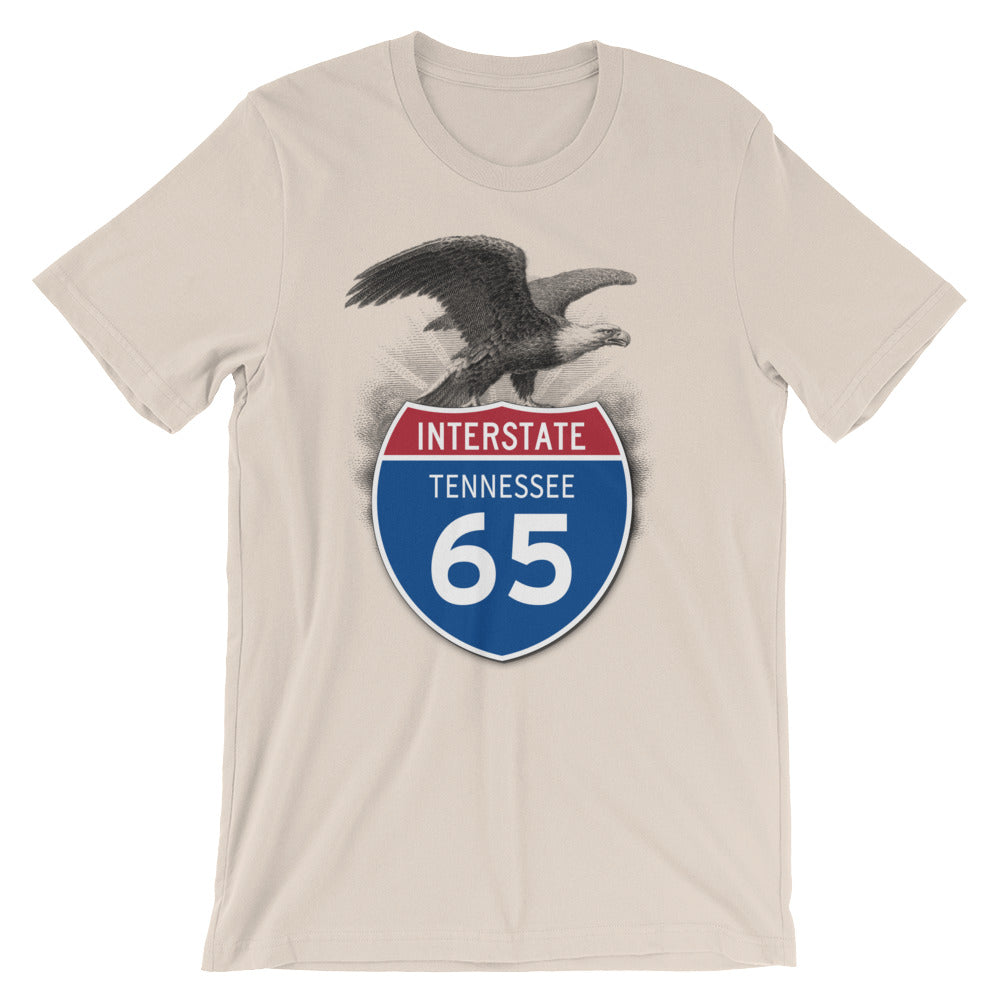 Tennessee TN I-65 Highway Interstate Shield TShirt Tee - American Yesteryear