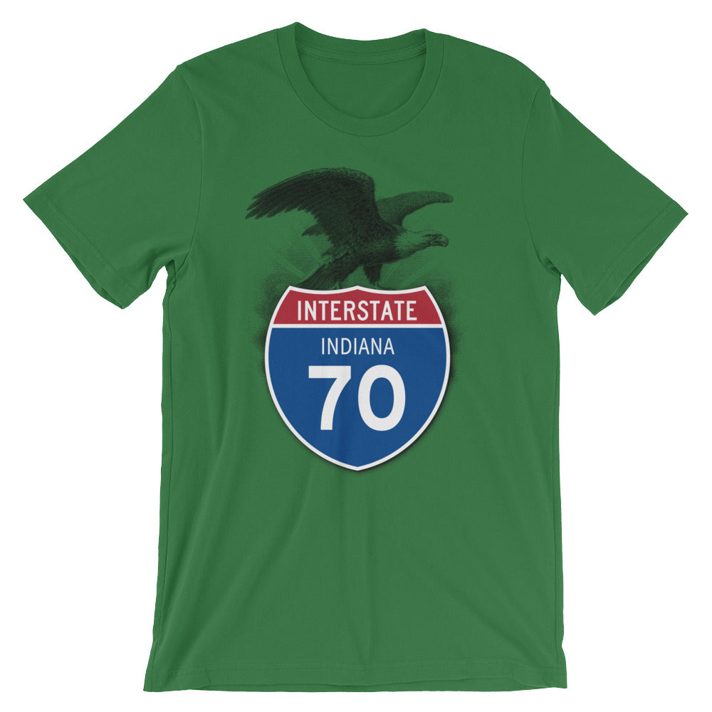 Indiana IN I-70 Highway Interstate Shield T-Shirt TShirt Tee - American Yesteryear
