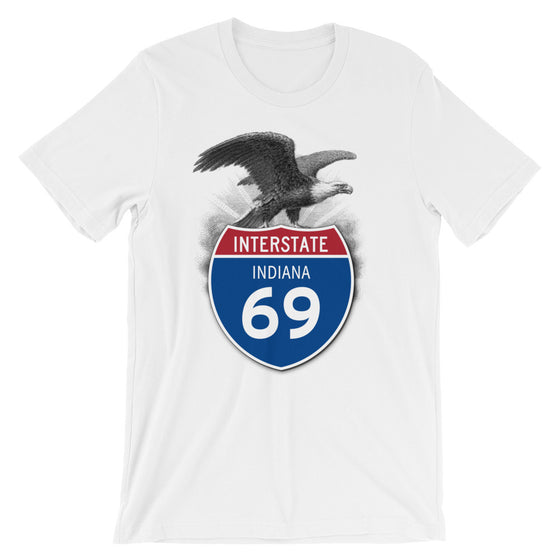 Indiana IN I-69 Highway Interstate Shield T-Shirt TShirt Tee - American Yesteryear