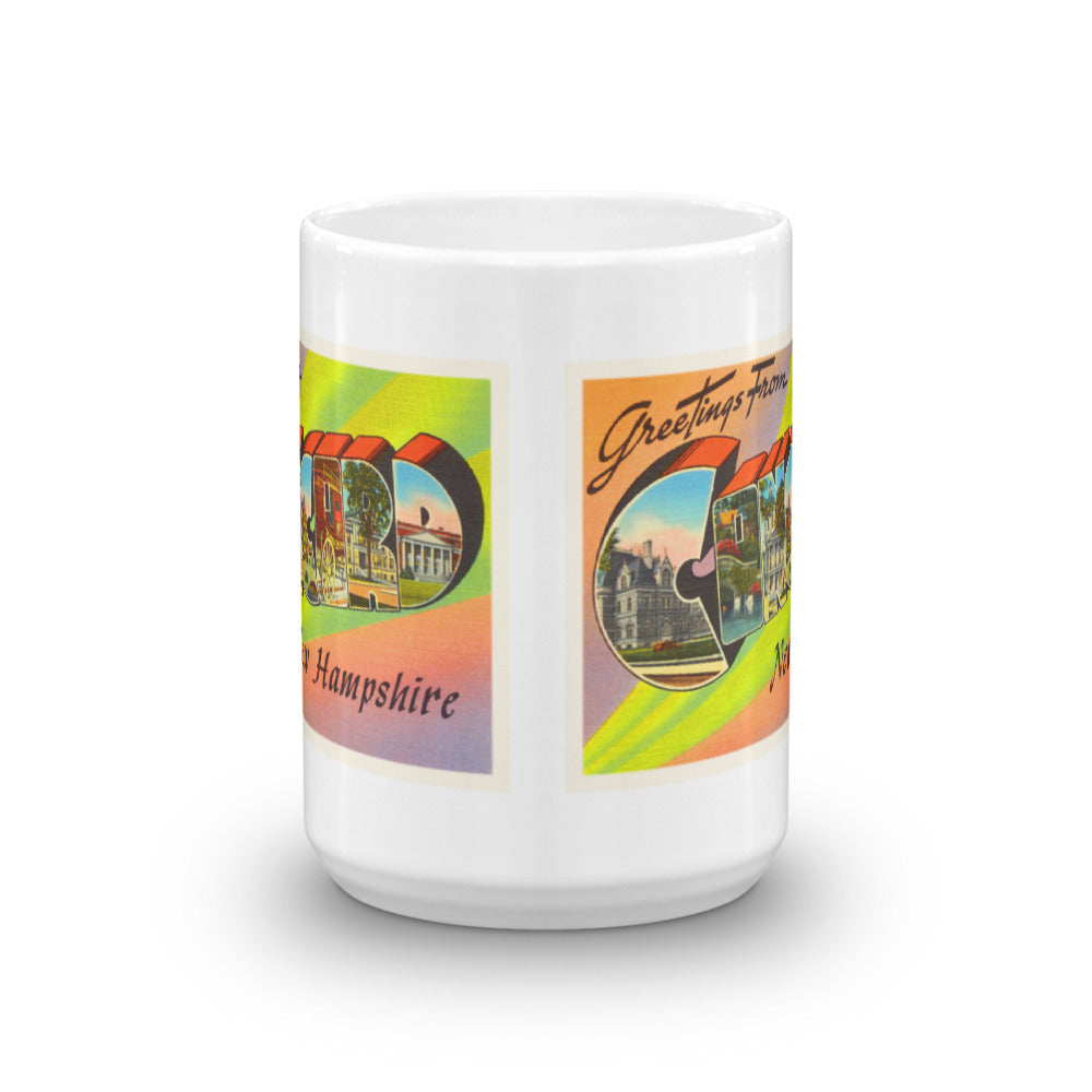 Mug – Concord NH Greetings From New Hampshire Big Large Letter Postcard Retro Travel Gift Souvenir Coffee or Tea Cup - American Yesteryear