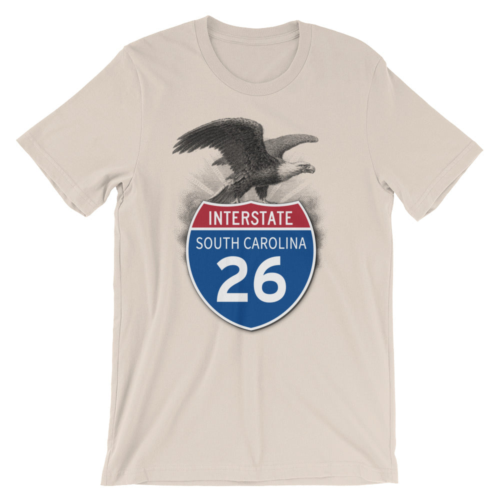 South Carolina SC I-26 Highway Interstate Shield TShirt Tee - American Yesteryear