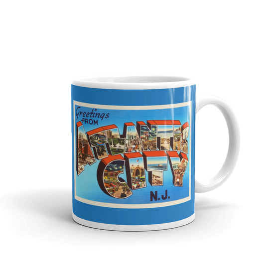 Mug - Atlantic City New Jersey NJ Big Large Letter Postcard Travel Souvenir - American Yesteryear