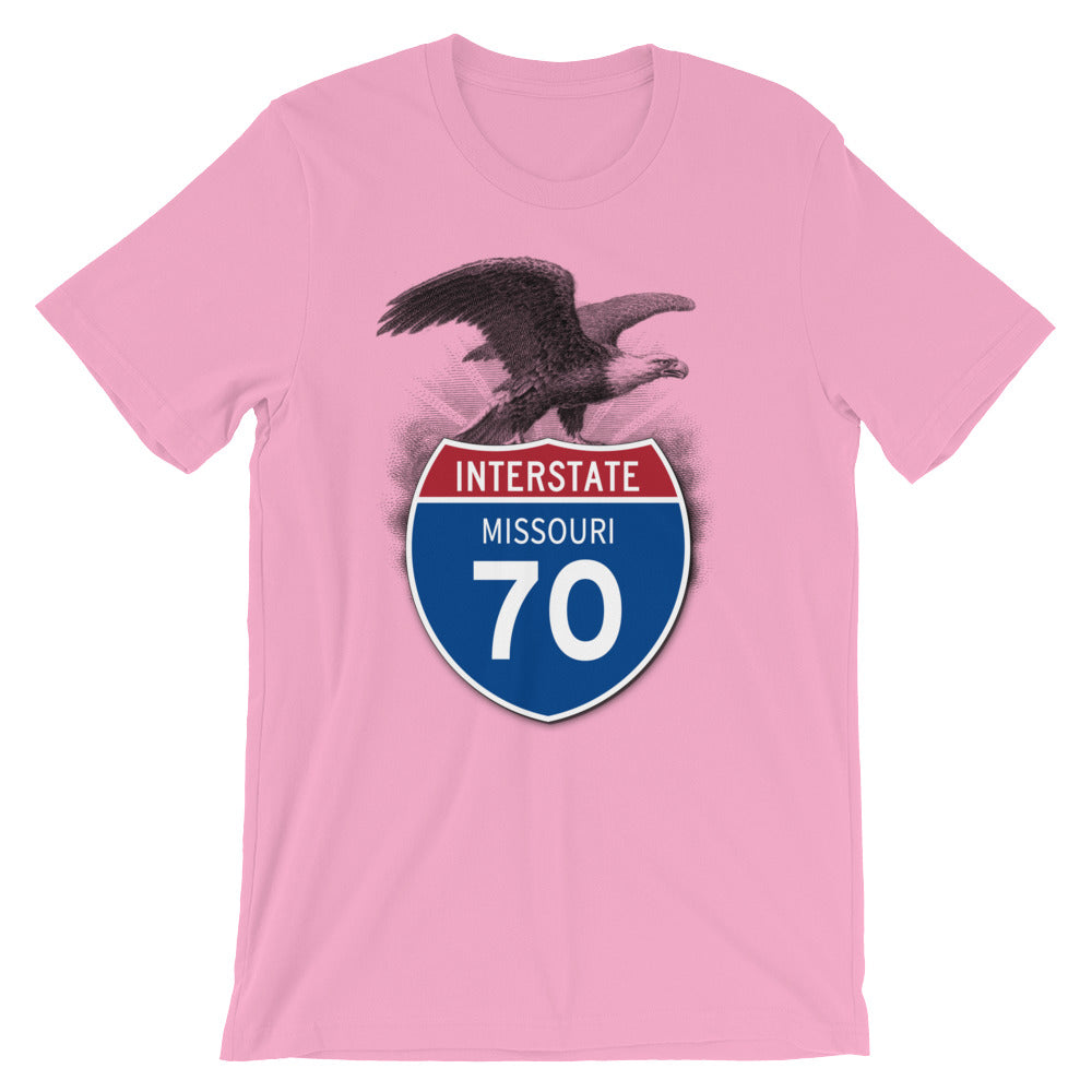 Missouri MO I-70 Highway Interstate Shield Tshirt Tee - American Yesteryear