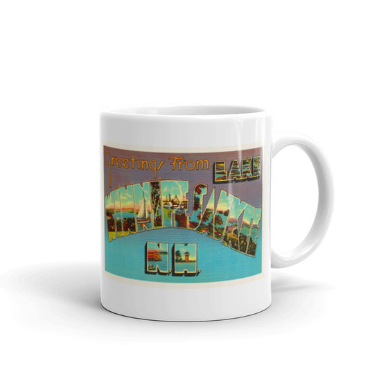 Mug – Winnipesaukee NH Greetings From New Hampshire Big Large Letter Postcard Retro Travel Gift Souvenir Coffee or Tea Cup - American Yesteryear