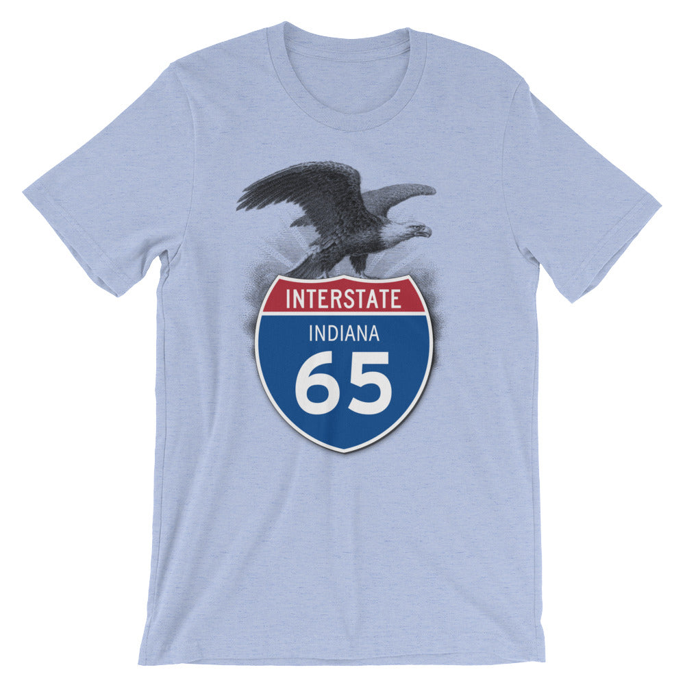Indiana IN I-65 Highway Interstate Shield T-Shirt TShirt Tee - American Yesteryear