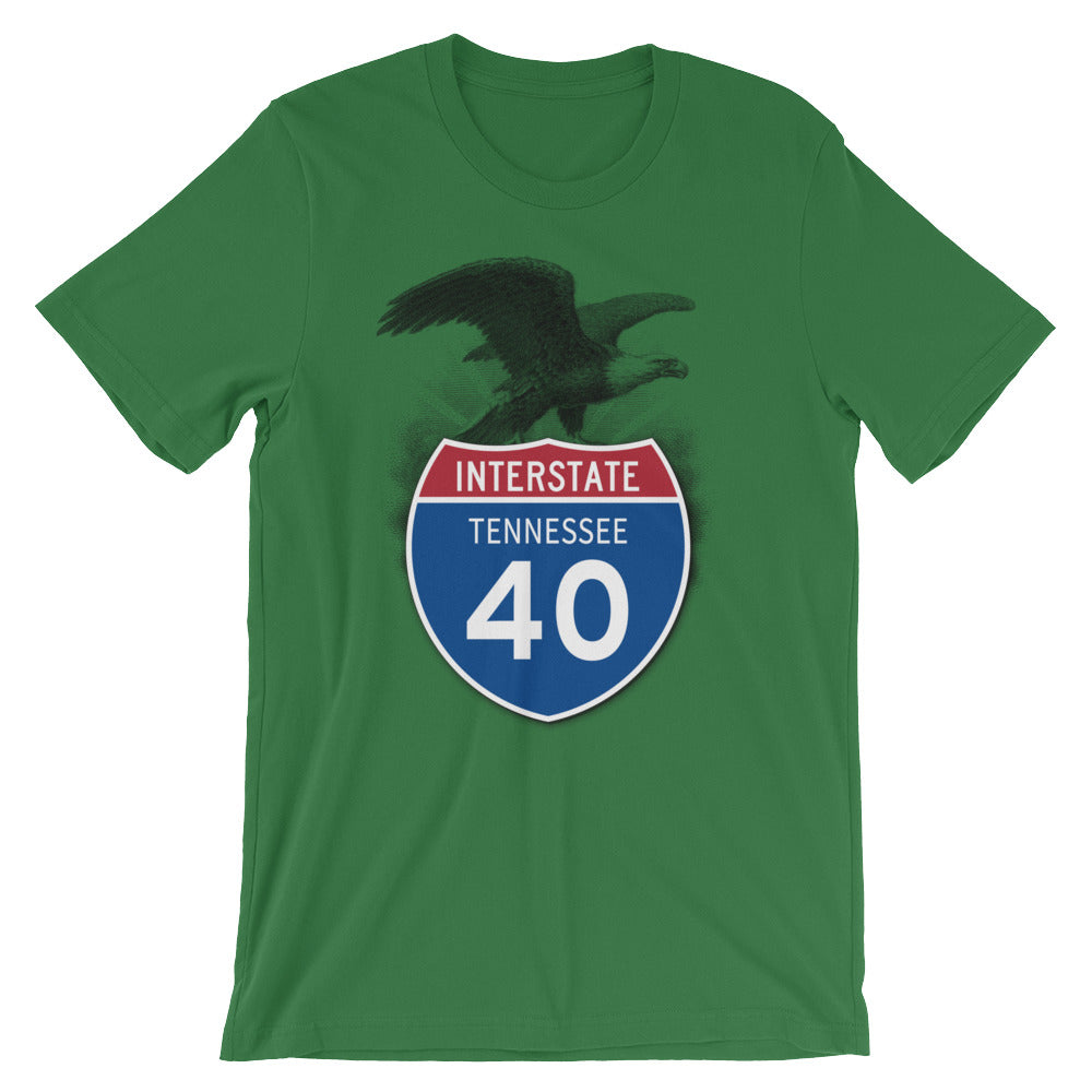Tennessee TN I-40 Highway Interstate Shield TShirt Tee - American Yesteryear