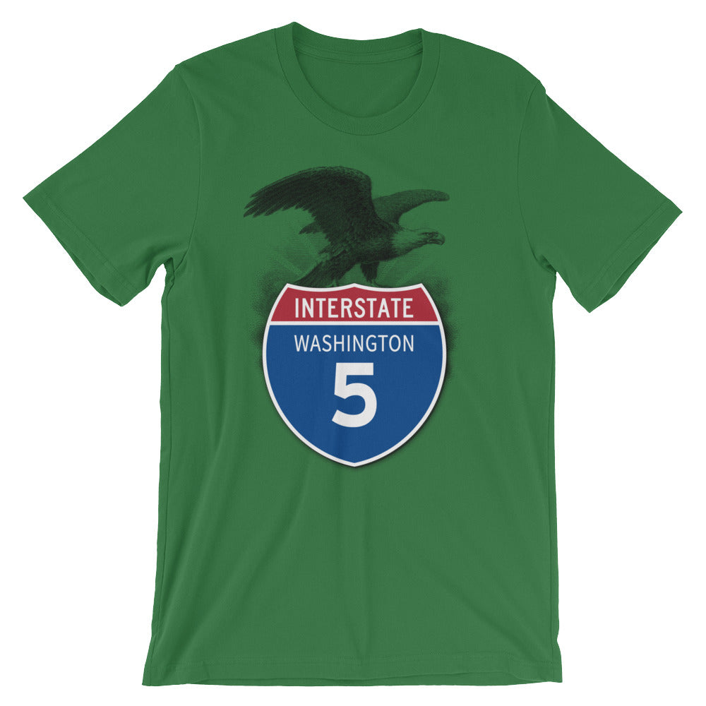 Washington WA I-5 Highway Interstate Shield TShirt Tee - American Yesteryear