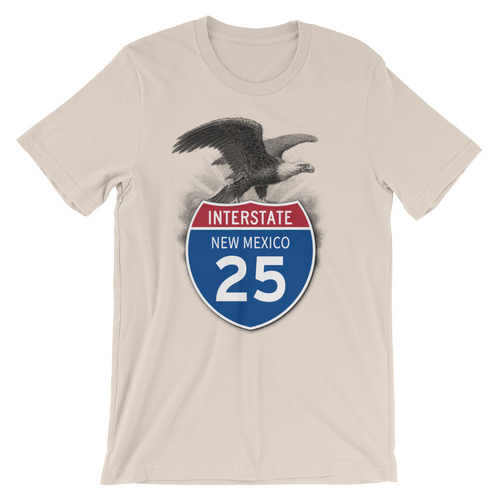 New Mexico NM I-25 Highway Interstate Shield TShirt Tee - American Yesteryear