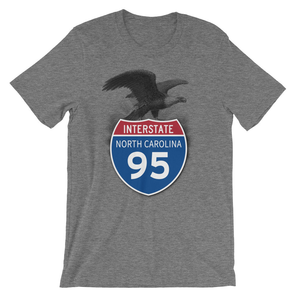 North Carolina NC I-95 Highway Interstate Shield TShirt Tee - American Yesteryear