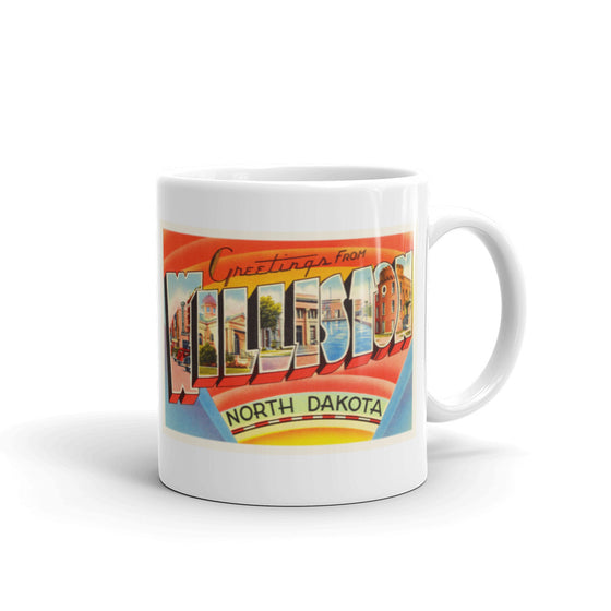 Mug – Williston ND Greetings From North Dakota Big Large Letter Postcard Retro Travel Gift Souvenir Coffee or Tea Cup - American Yesteryear