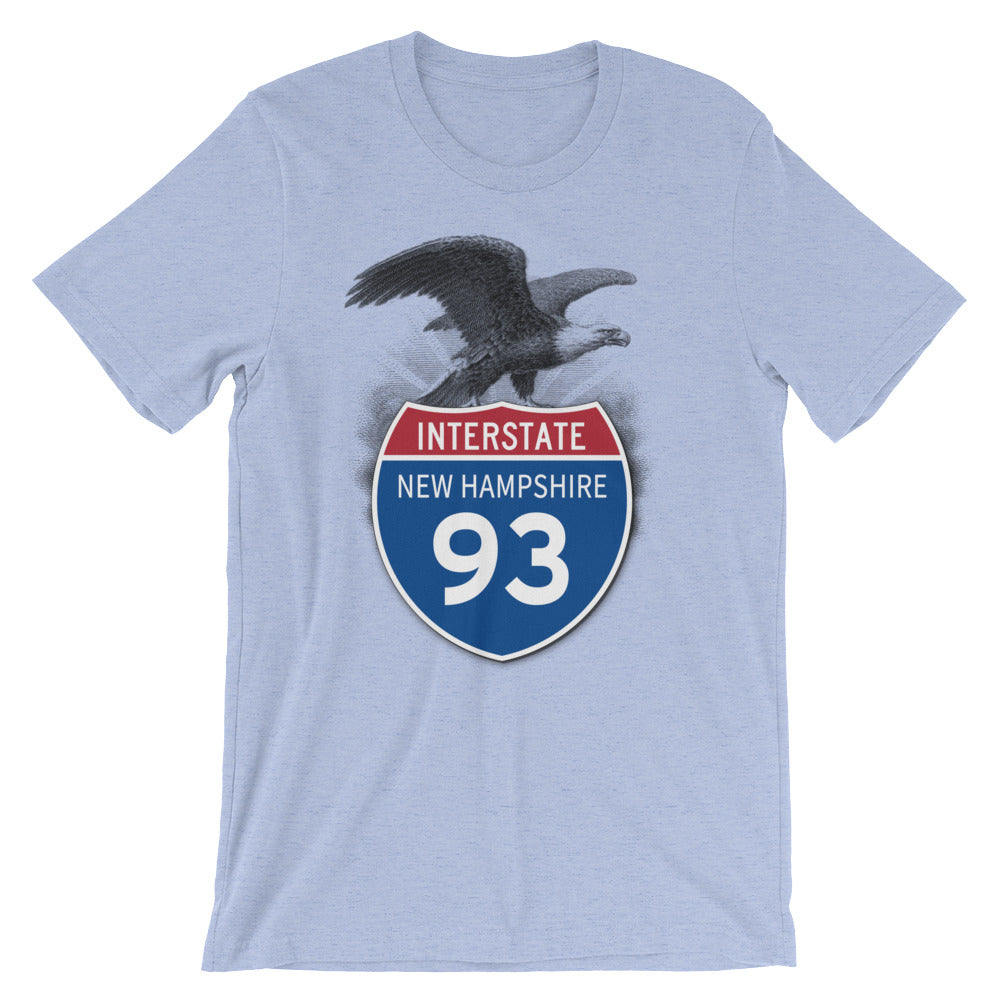 New Hampshire NH I-93 Highway Interstate Shield TShirt Tee - American Yesteryear