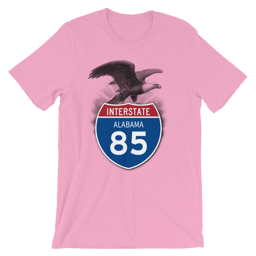 Alabama AL I-85 Highway Interstate Shield T-Shirt TShirt Tee - American Yesteryear