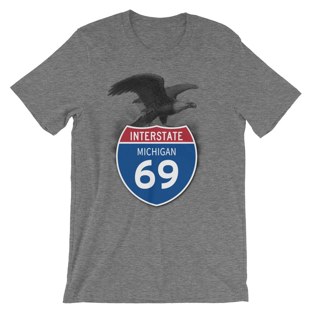Michigan MI I-69 Highway Interstate Shield Tshirt Tee