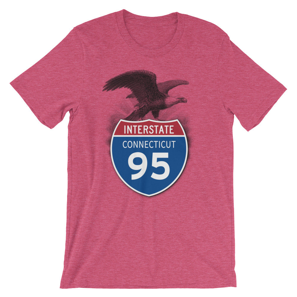 Connecticut CT I-95 Highway Interstate Shield TShirt Tee - American Yesteryear