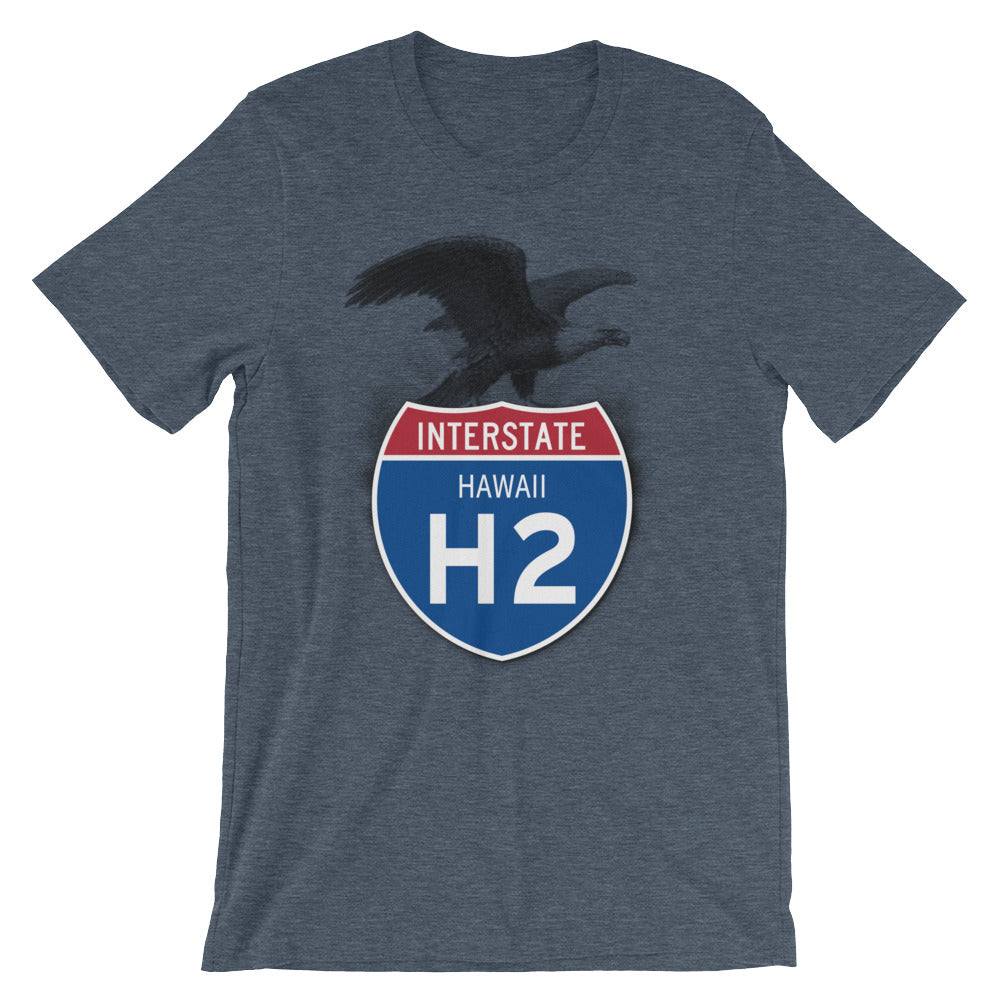 Hawaii HI I-H2 Highway Interstate Shield TShirt Tee - American Yesteryear