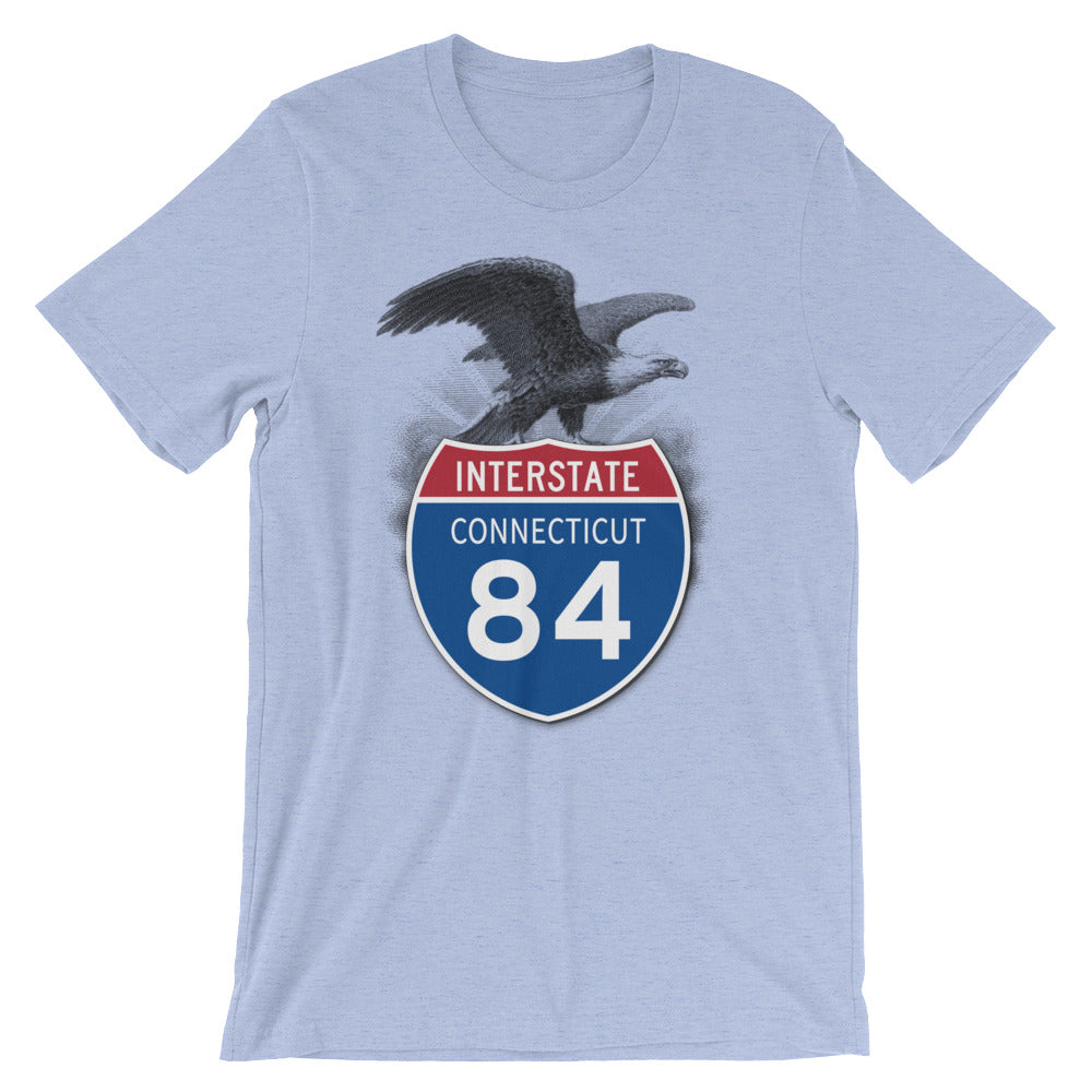 Connecticut CT I-84 Highway Interstate Shield TShirt Tee - American Yesteryear