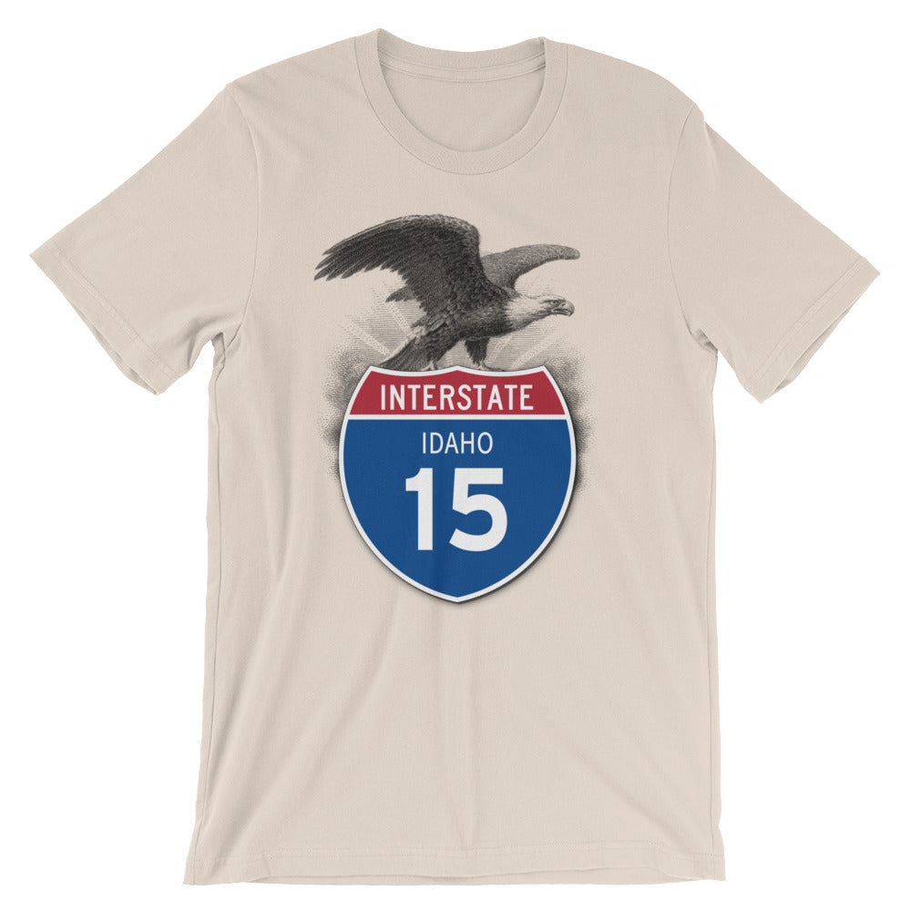 Idaho ID I-15 Highway Interstate Shield TShirt Tee