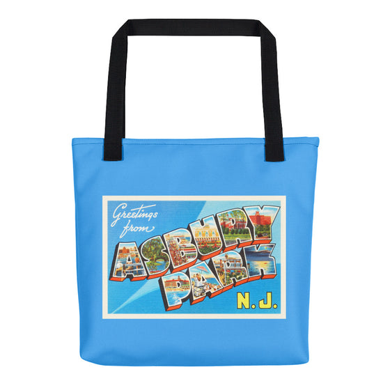 Tote Bag - Asbury Park New Jersey NJ Big Large Letter Postcard Travel Souvenir - American Yesteryear