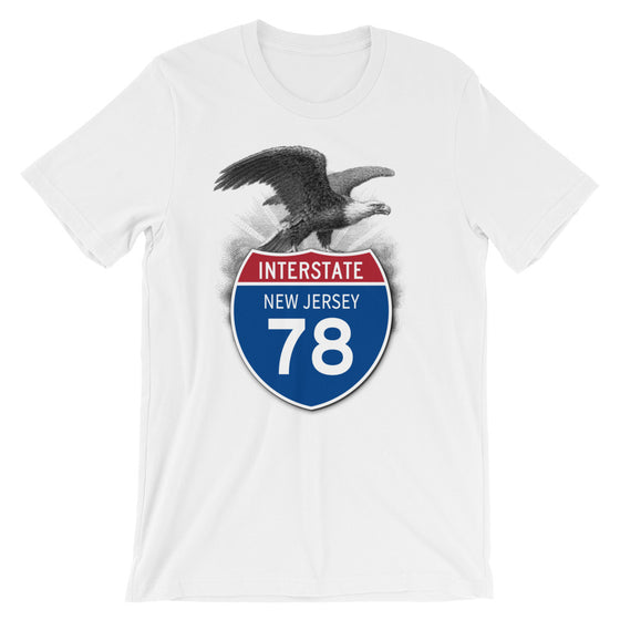 New Jersey NJ I-78 Highway Interstate Shield TShirt Tee - American Yesteryear