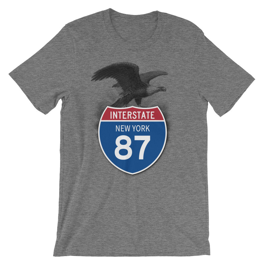 New York NY I-87 Highway Interstate Shield TShirt Tee - American Yesteryear
