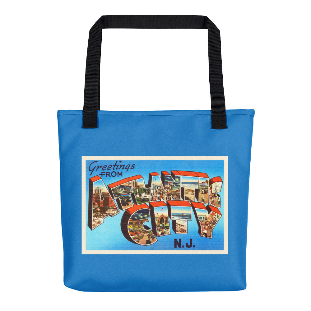 Tote Bag - Atlantic City New Jersey NJ Big Large Letter Postcard Travel Souvenir - American Yesteryear