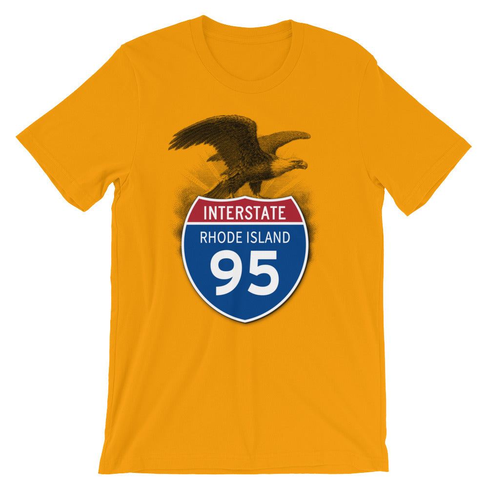 Rhode Island RI I-95 Highway Interstate Shield TShirt Tee - American Yesteryear