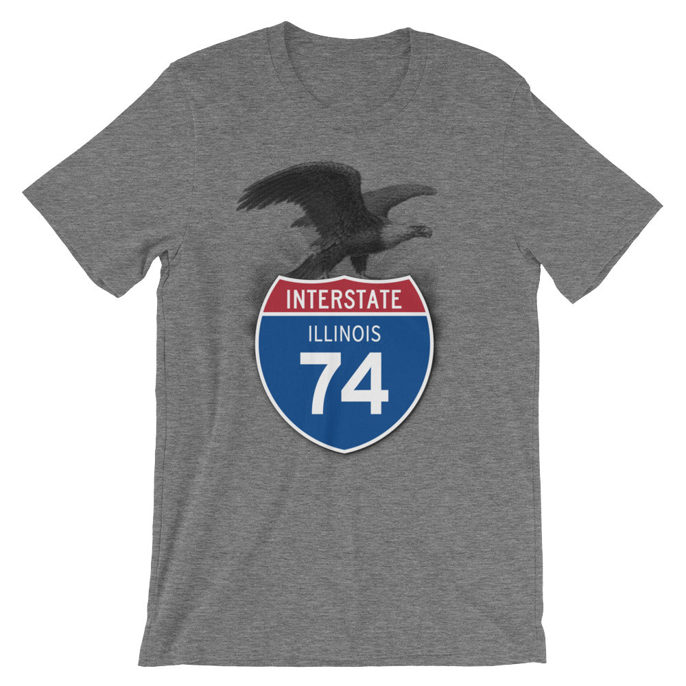 Illinois IL I-74 Highway Interstate Shield T-Shirt Tee - American Yesteryear