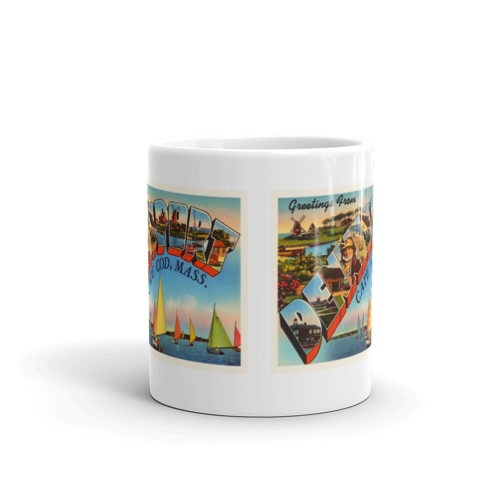 Mug – Dennisport Cape Cod MA Greetings From Massachusetts Big Large Letter Postcard Retro Travel Gift Souvenir Coffee or Tea Cup - American Yesteryear