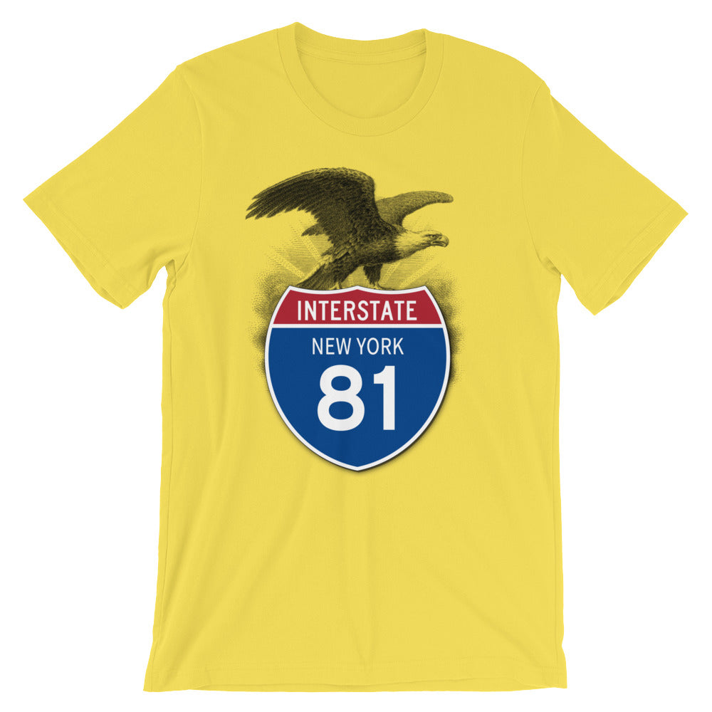 New York NY I-81 Highway Interstate Shield TShirt Tee - American Yesteryear