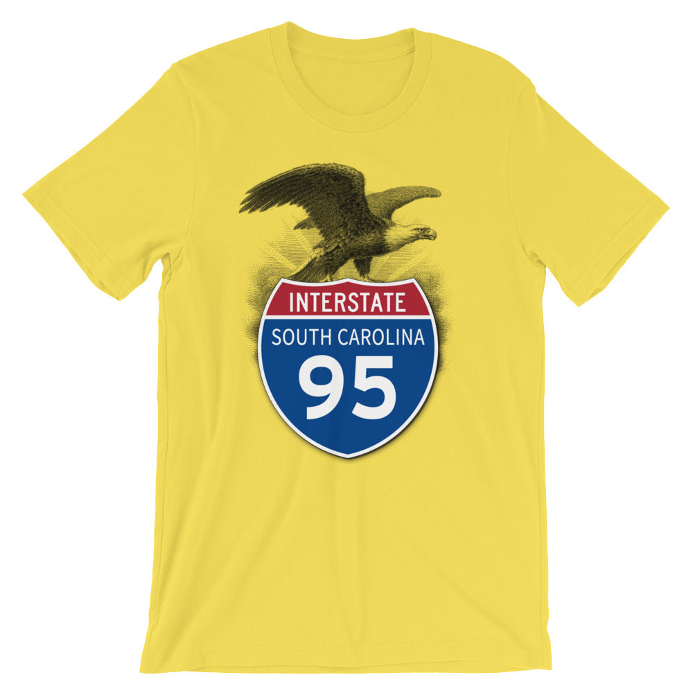 South Carolina SC I-95 Highway Interstate Shield TShirt Tee - American Yesteryear