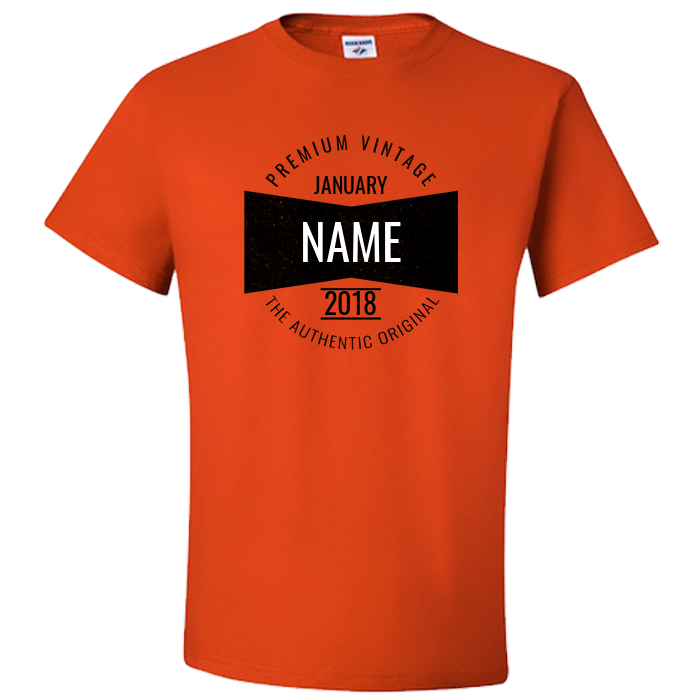 Test: Birth Year Unisex T Shirt Retro Vintage Bow Tie Design :: Personalize for First Name, Month and Year - American Yesteryear